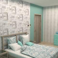 Загородный дом: Спальни в . Автор – Студия дизайна Елены Нужиной