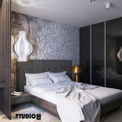 Sypialnia: styl , w kategorii Sypialnia zaprojektowany przez MIKOŁAJSKAstudio