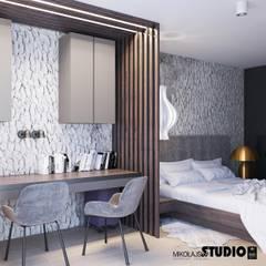Kącik Do Pracy W Sypialni : styl , w kategorii Sypialnia zaprojektowany przez MIKOŁAJSKAstudio
