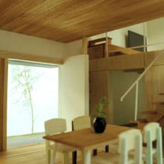 茜部の家: border design architectsが手掛けたダイニングです。