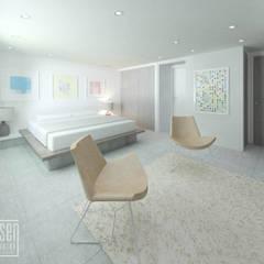 Habitación Principal: Casas de madera de estilo  por Eisen Arquitecto