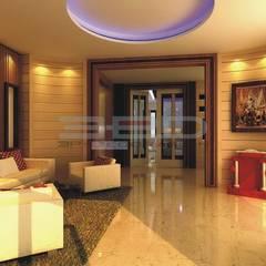ออกแบบตกแต่ง โครงการณุศาศิริ:  ห้องนั่งเล่น by 3 P DECORATION