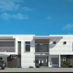 Fachada Frontal: Casas unifamiliares de estilo  por Eisen Arquitecto