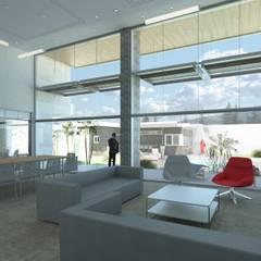 Vivienda VN Guataparo: Salas / recibidores de estilo  por Eisen Arquitecto,