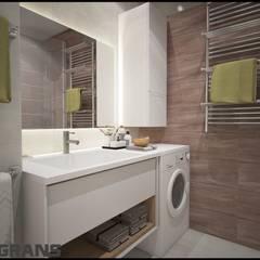 Дизайн интерьера 3к. квартира по ул. Пионерская, 1, ЖК Golden Keys, г. Хабаровск: Ванные комнаты в . Автор – Студия дизайна интерьера L'grans