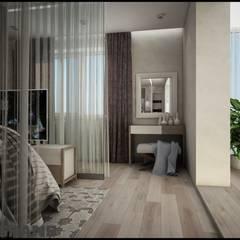 Дизайн интерьера 3к. квартира по ул. Пионерская, 1, ЖК Golden Keys, г. Хабаровск: Спальни в . Автор – Студия дизайна интерьера L'grans