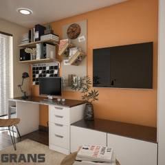 Дизайн интерьера 2х уровневой квартиры в ЖК Green Ville : Рабочие кабинеты в . Автор – Студия дизайна интерьера L'grans