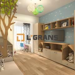 Dormitorios infantiles de estilo  por Студия дизайна интерьера L'grans