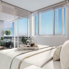 Altos de Puyai - Prohabit: Dormitorios de estilo rústico por Xline 3D