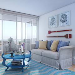 Altos de Puyai - Prohabit: Livings de estilo  por Xline 3D