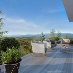 Mil Nueve Diez - Cobitat: Terrazas de estilo  por Xline 3D