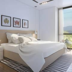 Mil Nueve Diez - Cobitat: Dormitorios de estilo  por Xline 3D