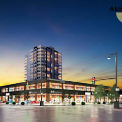 Özkanoğlu İnşaat – Akıncı Merkez Plaza ve Ofis İnşaatları:  tarz PVC pencereler
