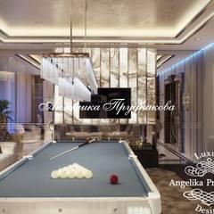 Gimnasios en casa de estilo clásico por Дизайн-студия элитных интерьеров Анжелики Прудниковой