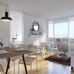 Altos de Puyai by Xline 3D:  Dining room by Xline 3D Digital Architecture