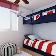 Altos de Puyai by Xline 3D: modern Nursery/kid's room by Xline 3D Digital Architecture