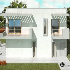 บ้านสำเร็จรูป โดย ATELIER OPEN ® - Arquitetura e Engenharia, โมเดิร์น เหล็ก