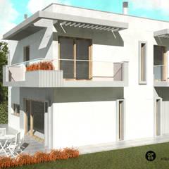 Moradia V3 Lt66 - Tires (Cascais): Jardins  por ATELIER OPEN ® - Arquitetura e Engenharia