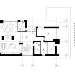Projekty,  Podłogi zaprojektowane przez Архитектурная студия Чадо