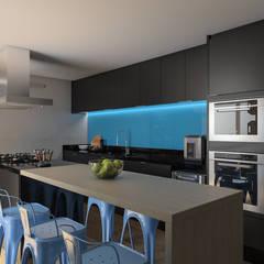 Cocinas de estilo  por Faconti Arquitetura e Construção