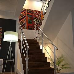 Escaleras: Pasillos y vestíbulos de estilo  por SindiyFiorella
