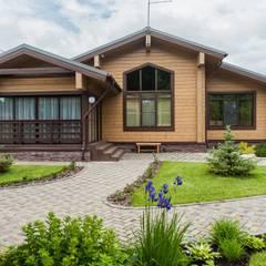 منزل خشبي تنفيذ 'Студия дизайна Марины Кутеповой'