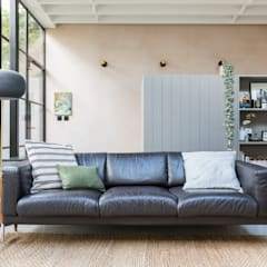 East Dulwich Industrial Conversion:  Living room by Imperfect Interiors