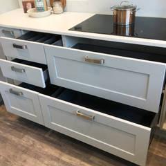 Storage:  Kitchen units by Greengage Interiors