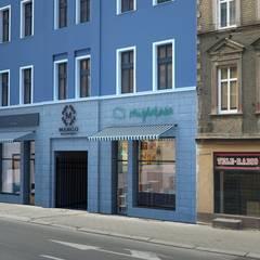 Projekt elewacji kamienicy przy ul.Piłsudskiego w Bytomiu: styl , w kategorii Hotele zaprojektowany przez Archi group Adam Kuropatwa
