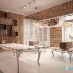 Projekt kwiaciarni w Olkuszu: styl , w kategorii Powierzchnie handlowe zaprojektowany przez Archi group Adam Kuropatwa