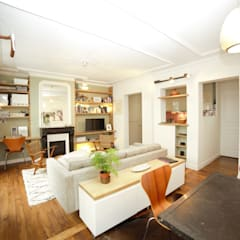 Réaménagement complet d'un appartement parisien: Salon de style  par Clo - Architecture & Design