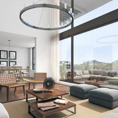 Depthouse Los Trapenses – Castro & Tagle Inmobiliaria: Livings de estilo  por Xline chile