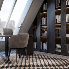 Two-level apartment in Paris │ Part 1: Рабочие кабинеты в . Автор – Diff.Studio