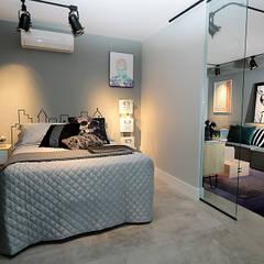 Dormitório integrado: Quartos  por Duplex212 - Arquitetura e Interiores
