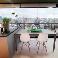 Sala de Jantar: Salas de jantar industriais por Duplex212 - Arquitetura e Interiores