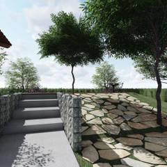 CASA JA: Jardins de pedras  por Mutabile