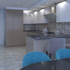 """Кухня. ЖК """"Куркино"""". : Встроенные кухни в . Автор – Non Solo Design"""