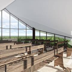CASA DE RETIROS SÃO JOSÉ: Chalés e casas de madeira  por Mutabile