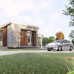 แบบบ้านพักอาศัย 1 ชั้น ค.ส.ล.:  บ้านและที่อยู่อาศัย โดย Takuapa125, โมเดิร์น