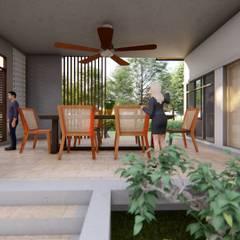 แบบบ้านพักอาศัย 1 ชั้น ค.ส.ล.:  บ้านและที่อยู่อาศัย by Takuapa125