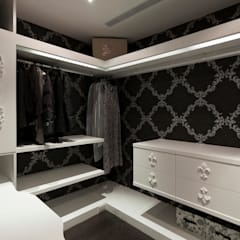 Dressing room by 禾光室內裝修設計 ─ Her Guang Design