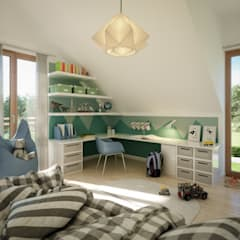 Teen bedroom by Living Fertighaus GmbH
