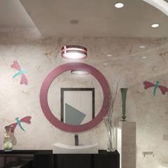 Eco Friendly Flat Interiors in Kerala:  Bathroom by Monnaie Interiors Pvt Ltd