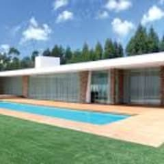Scandinavian style pool by Rossi Design - Architetto e Designer Scandinavian