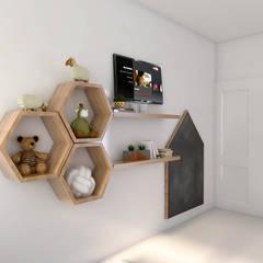 Obra Club de campo pueyrredón: Dormitorios infantiles de estilo  por Bhavana