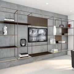 Obra Oficina Av. Congreso: Estudios y oficinas de estilo industrial por Bhavana