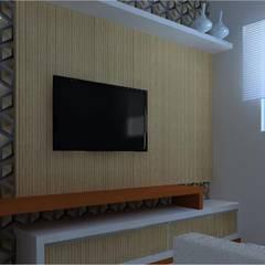 Design de Interiores - Residencial: Salas multimídia  por Ortho Arquitetura