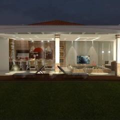 Área de Churrasqueira - Residencial - AS: Casas familiares  por JKR arquitetura e Designer - Arquitetos Associados
