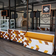 Diseño de cafeterías   Mobiliario para cafetería   Decoración para cafetería: Restaurantes de estilo  por DISEÑO DE BARES Y RESTAURANTES B&Ö  Arquitectura, decoración, diseño de interiores y Muebles