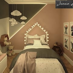Arquiteta Joana Monteiro:  tarz Kız çocuk yatak odası